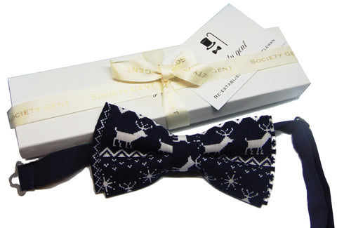 Blue-Reindeer-Christmas-Bow-Tie-Society-gent
