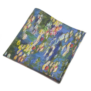 "Monet ""Waterlilies"" Pocket Square-pocket square-Society Gent"