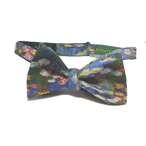 "Monet ""Waterlilies"" Self-Tie Bow Tie-pocket square-Society Gent"