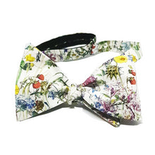 Wild Spring Flowers Self Tie Bow Tie-bow ties-Society Gent