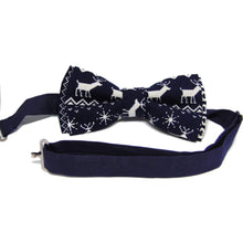Blue Reindeer Christmas Bow Tie-bow ties-Society Gent
