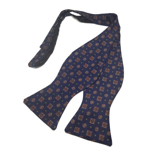 The Westminster - Blue Self Tied Bow Tie-bow ties-Society Gent