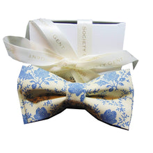 Bone China Pre-Tied Bow Tie-bow ties-Society Gent