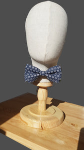 Blue Foulard Floral Pre-Tied Bow Tie