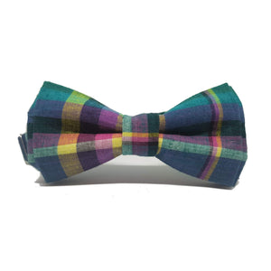 Checked Tartan Pre-Tied Bow Tie-bow ties-Society Gent