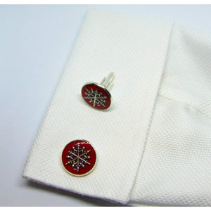Christmas Pointed Snowflake Cufflinks-cufflinks-Society Gent