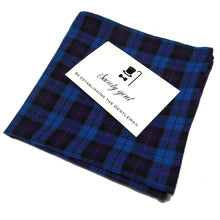 Cranleigh Blue and Pink Gingham Pocket Square-pocket square-Society Gent