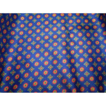 Deep Blue English Heritage Silk Pocket Square with Millefiori Pattern.-pocket square-Society Gent