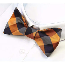 Gold and Light Grey Self-Tie Bow Tie-bow ties-Society Gent