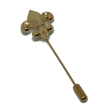 Gold Fleur-De Lis Lapel Pin-lapel pins-Society Gent