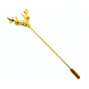 Gold Stag Lapel Pin-lapel pins-Society Gent