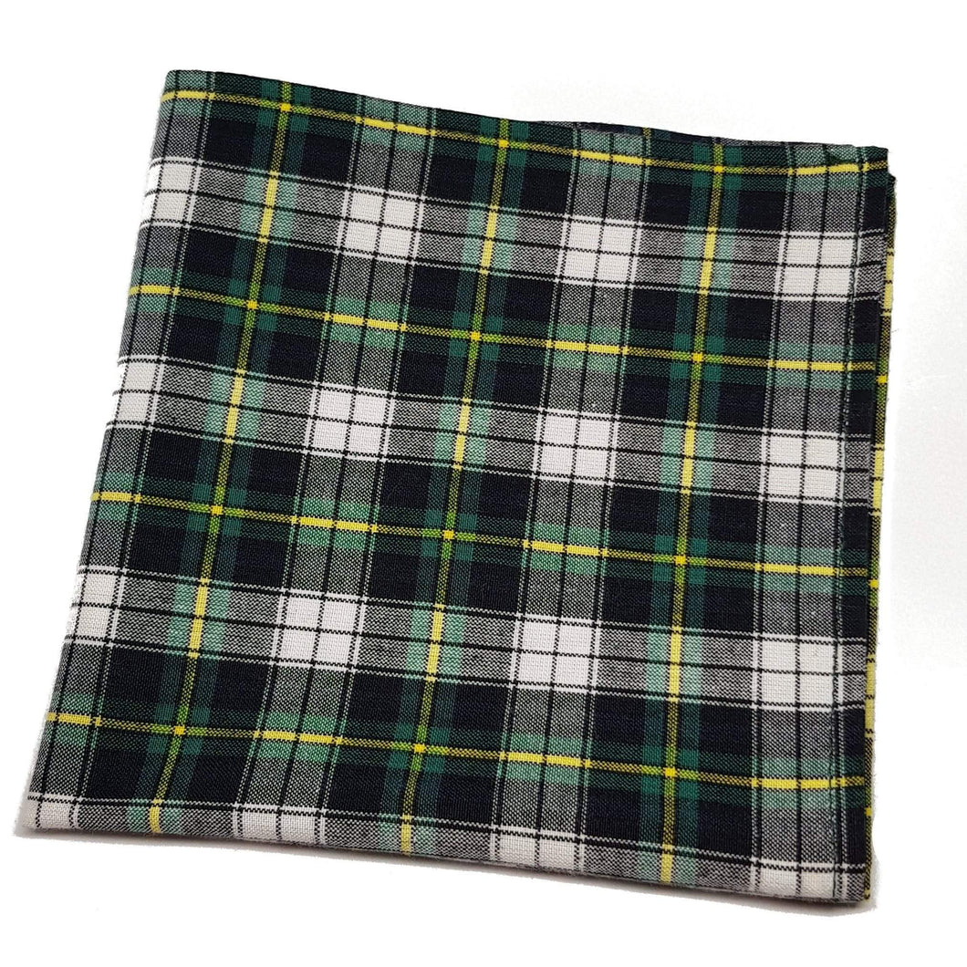 Green and White Plaid Pocket Square-pocket square-Society Gent
