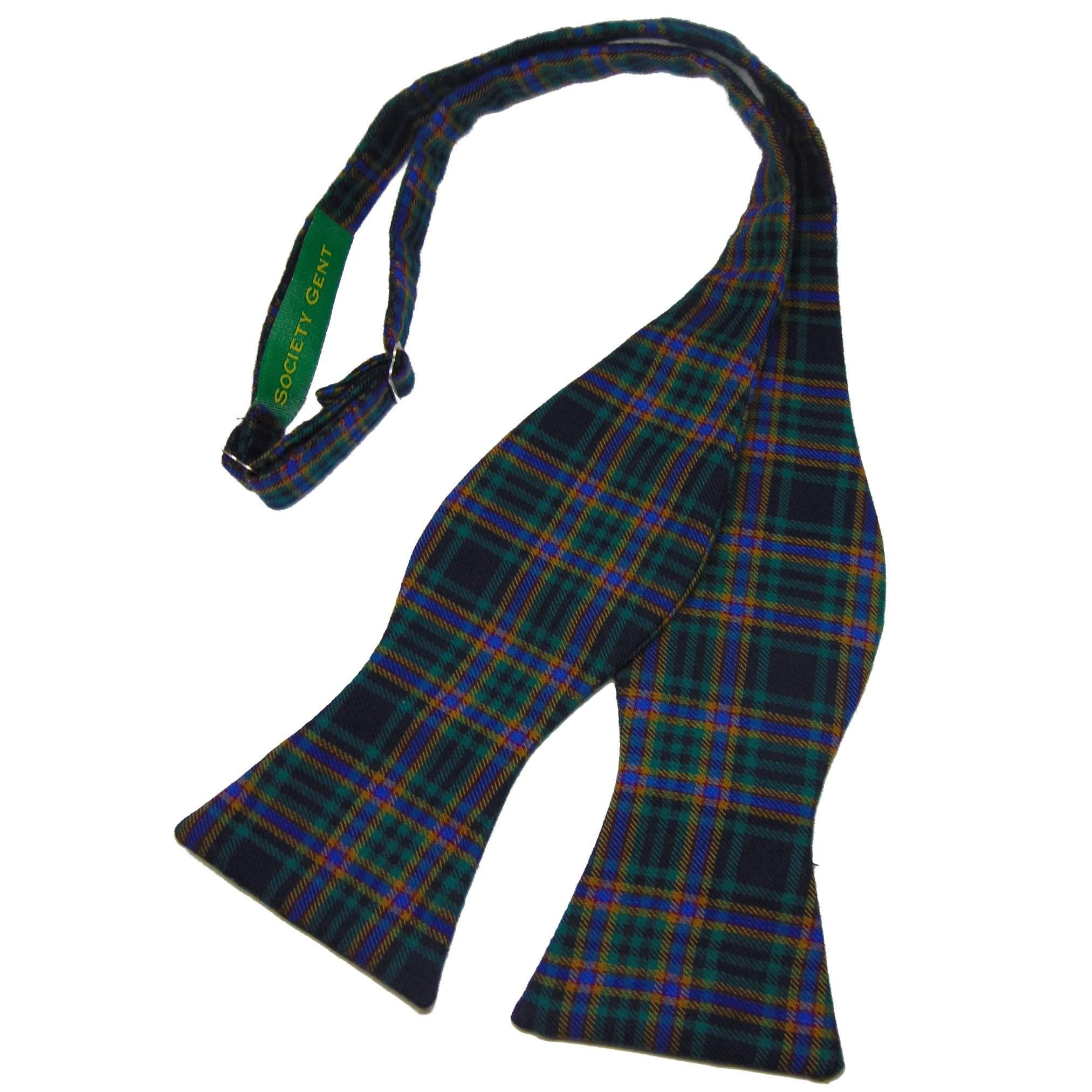 Green and yellow tartan self tie bow tie green and yellow tartan self tie bow tie and matching pocket square bow ties ccuart Image collections
