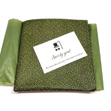Green Paisley Pocket Square-pocket square-Society Gent