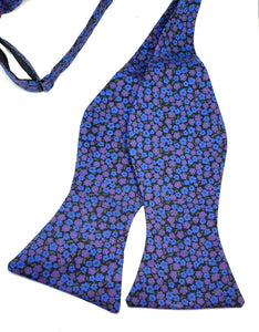 Hazel Liberty of London Blue and Purple Floral Self-Tie Bow Tie-Society Gent-Society Gent