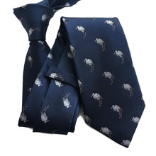 Heron Silk Tie and Pocket Square Set-ties-Society Gent