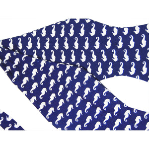 """Hippocampus"" Seahorses Self-Tie Bow Tie - Society Gent Animal Collection-bow ties-Society Gent"