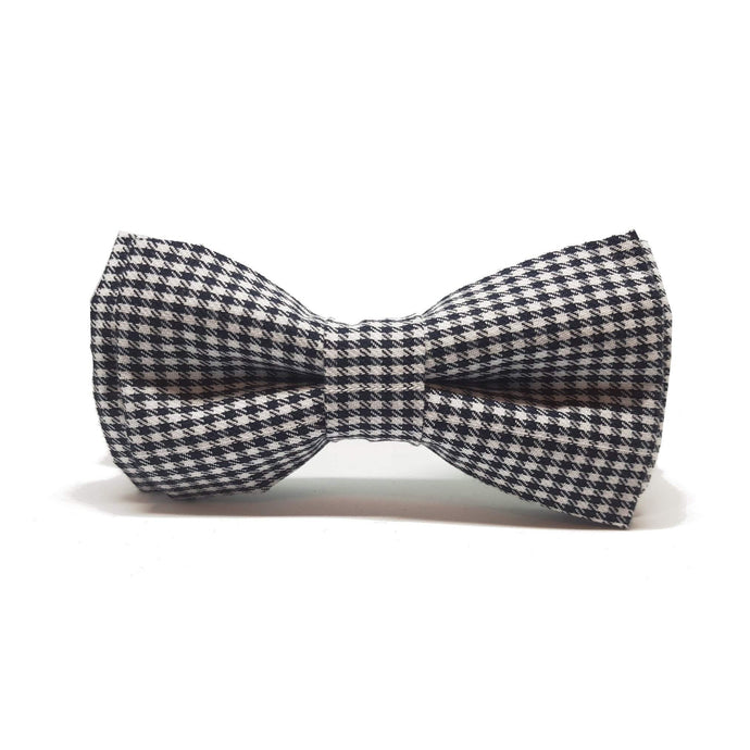 Houndstooth Pre-Tied Bow Tie-bow ties-Society Gent