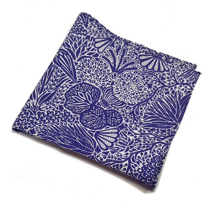 Purple and White Liberty of London Pocket Square-pocket square-Society Gent