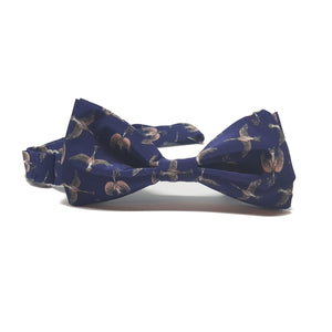 Birds and Flowers Liberty Silk Bow Tie - Pre-Tied-bow ties-Society Gent