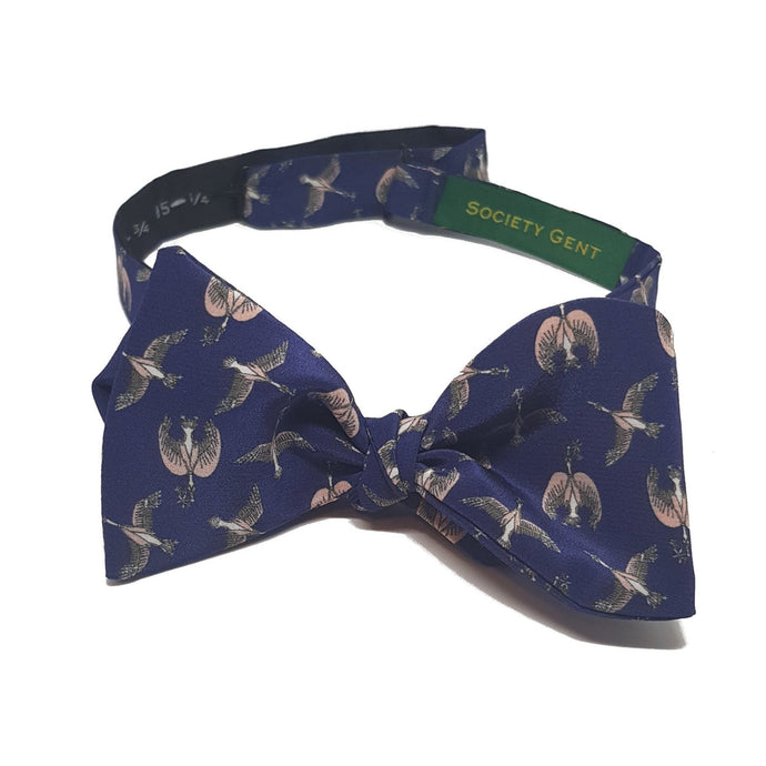 Birds and Flowers Liberty Silk Bow Tie - Self Tie-bow ties-Society Gent