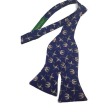 Birds and Flowers Liberty Silk Bow Tie and Pocket Square Set- Self Tie-bow ties-Society Gent