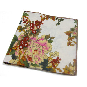 "Light Vintage Look Floral ""Shoestring"" Pocket Square-pocket square-Society Gent"