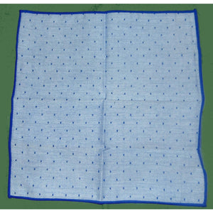 "Powder Blue Dot ""Shoestring"" Pocket Square-pocket square-Society Gent"