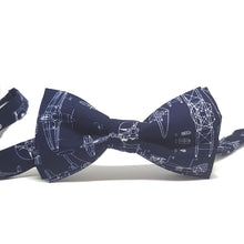 Navy Blue Aeroplane Pre Tied Bow Tie-bow ties-Society Gent