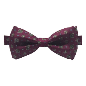 The Balmoral - Red Pre-Tied Bow Tie and Pocket Square Set-sets-Society Gent