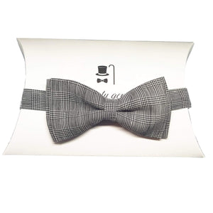Prince of Wales Check Pre Tied Bow Tie-bow ties-Society Gent