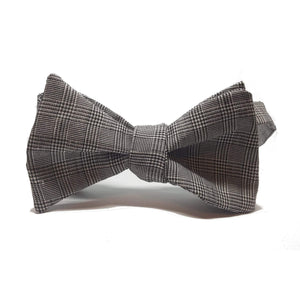 Prince of Wales Check Self Tie Bow Tie-bow ties-Society Gent