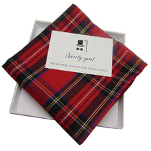 Pure Egyptian Cotton Royal Stewart Tartan Pocket Square-pocket square-Society Gent