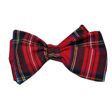 Pure Egyptian Cotton Tartan Self Tie-bow ties-Society Gent