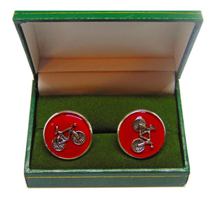 Red Bicycle Cufflinks - Vuelta a España-cufflinks-Society Gent