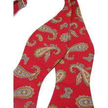 Red Paisley Self Tie Bow Tie-bow ties-Society Gent