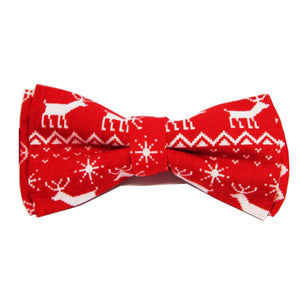 Red Reindeer Christmas Bow Tie-bow ties-Society Gent
