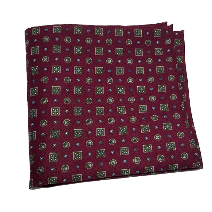 The Balmoral - Red Pocket Square-pocket square-Society Gent