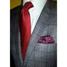 The Balmoral - Red Self Tied Bow Tie and Pocket Square Set-sets-Society Gent