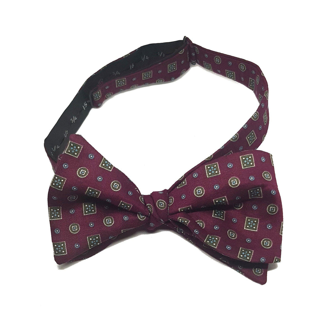 The Balmoral - Red Self Tied Bow Tie-sets-Society Gent