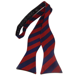Regimental Red and Blue Striped Self-Tie Bow Tie-bow ties-Society Gent