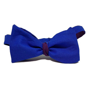 Reversible Purple and Blue Self-Tie Bow Tie-bow ties-Society Gent