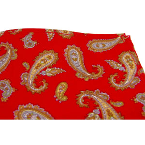 Rich Red Paisley Pocket Square-pocket square-Society Gent