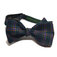 Green and Yellow Tartan Self-Tie Bow Tie-bow ties-Society Gent