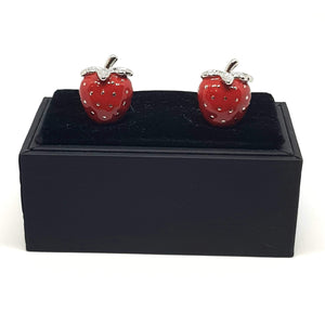 Strawberry Cufflinks-cufflinks-Society Gent