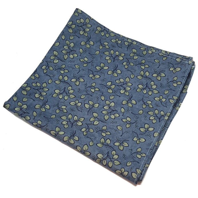 Summer on the Pond Pocket Square - Blue Floral Pocket Square-pocket square-Society Gent