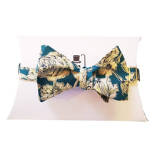 Teal Liberty of London Floral Self-Tie Bow Tie-bow ties-Society Gent