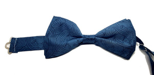 Teal Pre-Tied Bow Tie - Kissing Faces-bow ties-Society Gent