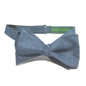 Teal Kissing Faces Self Tie Bow Tie and Pocket Square Set-bow ties-Society Gent