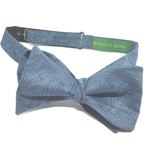 Teal Kissing Faces Self Tie Bow Tie-bow ties-Society Gent